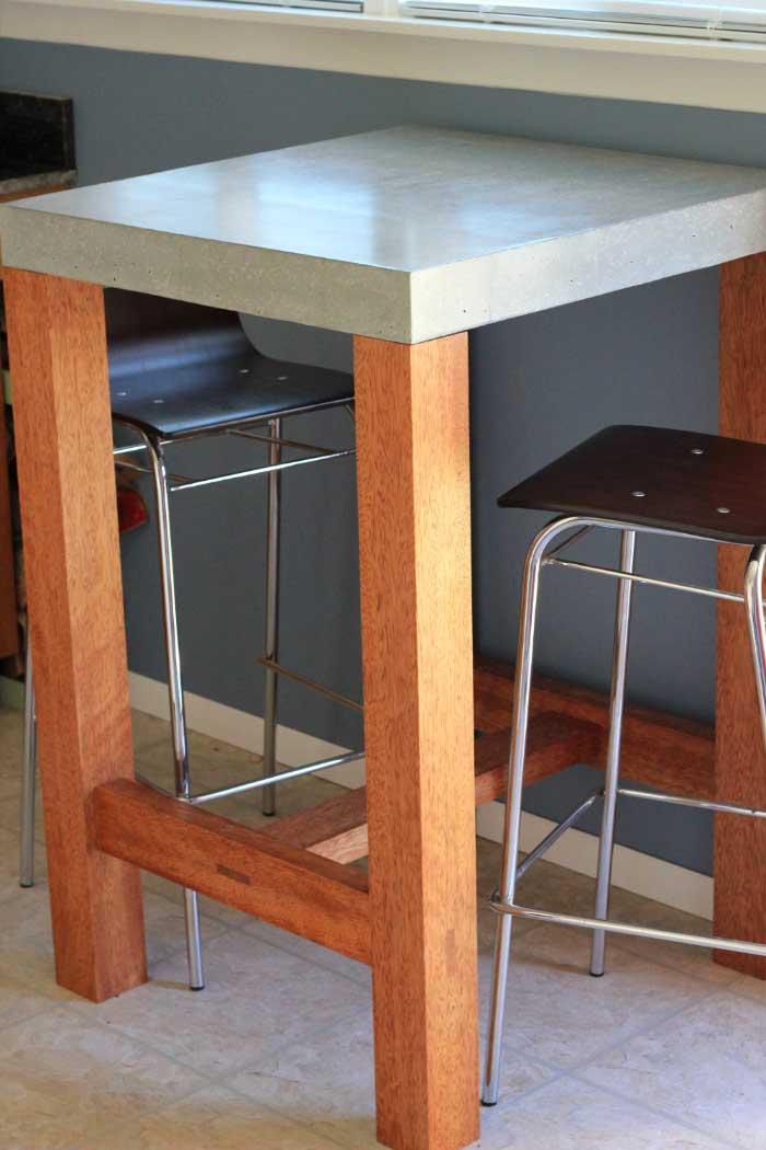 Concrete Top Pub Table Jay Palmer Arts Furniture